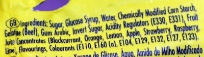 Frutips - Ingrediënten - en