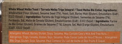 Melba toast - Ingrédients