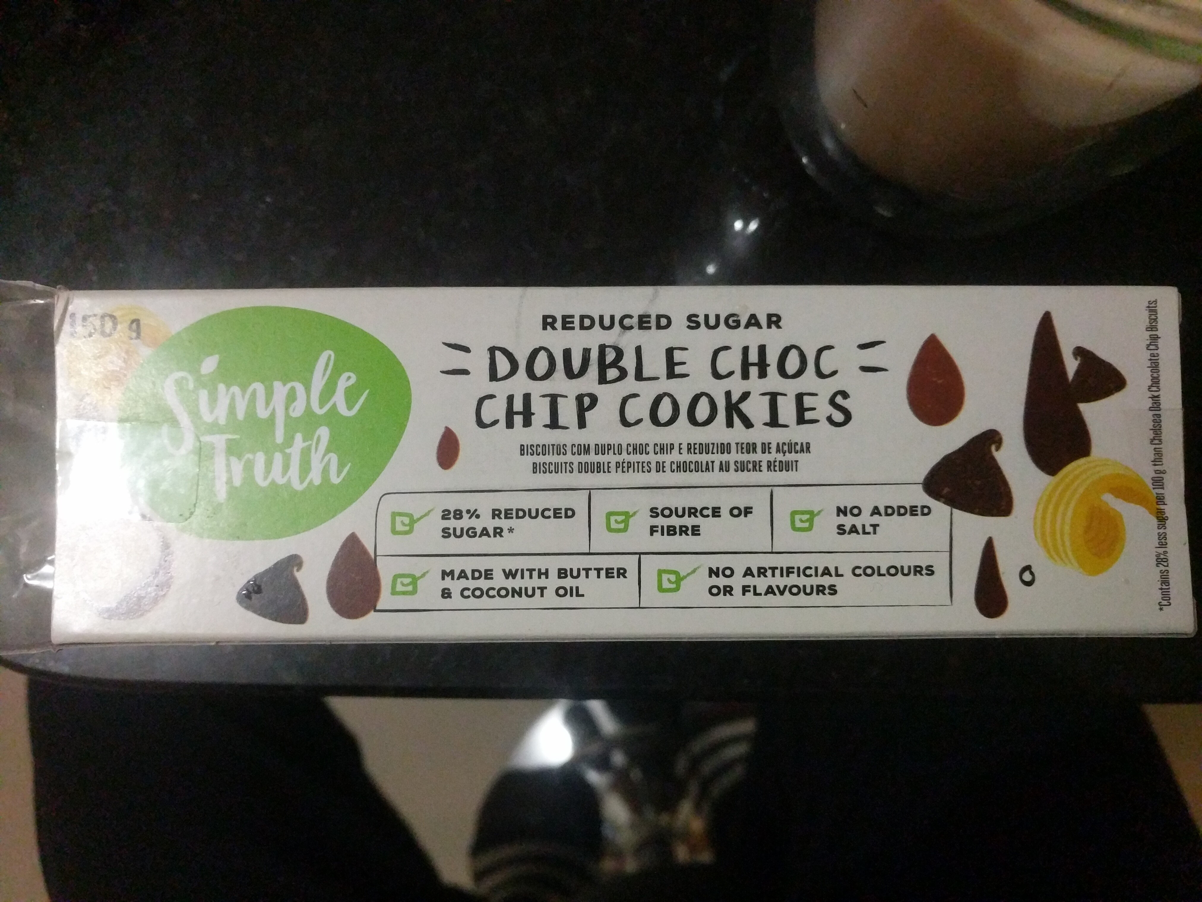 reduced sugar double choc chip cookies - Product