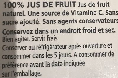 100% Juice Blend Goyave - Ingrédients