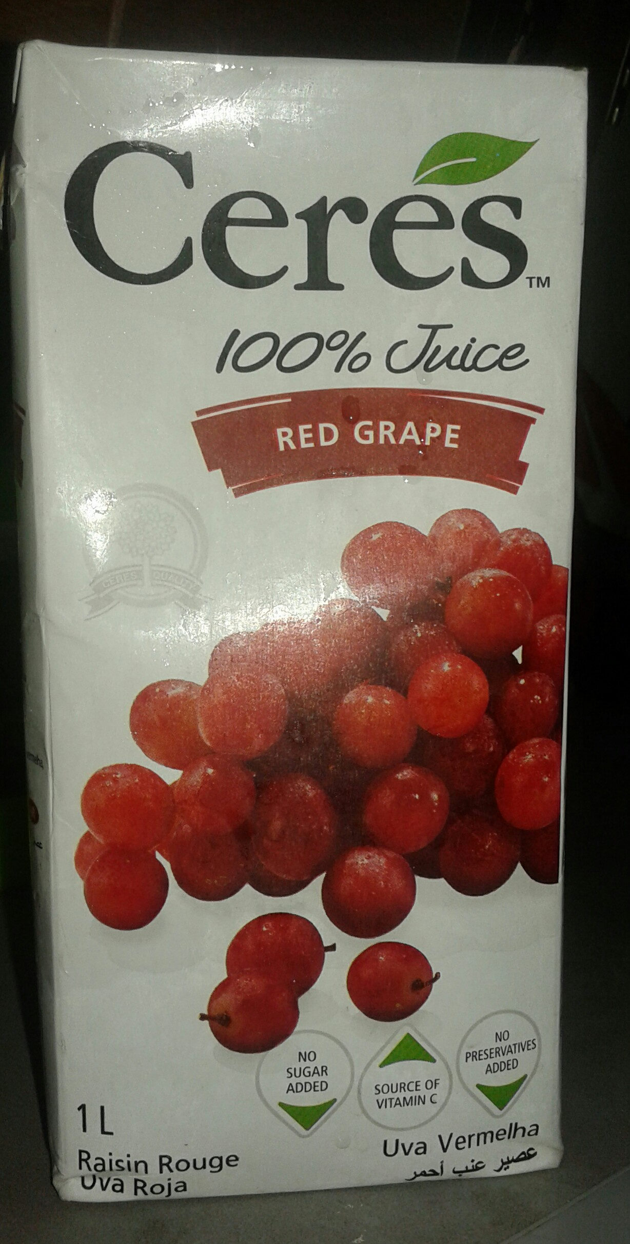 Ceres Red Grape 100% Fruit Juice - Product - fr