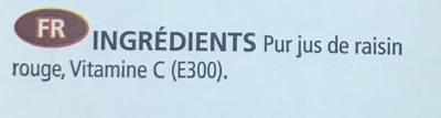 Ceres Red Grape 100% Fruit Juice - Ingrediënten - fr