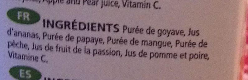 Panaché de fruits - Ingredients - fr