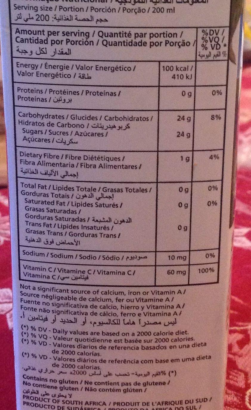 Panaché de fruits - Nutrition facts - fr