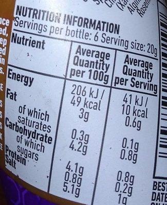 Nando's Garlic Peri Peri Sauce 135G - Nutrition facts - en