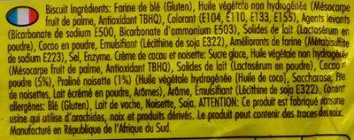 Wafers Chocnut Flavour - Ingrédients - fr