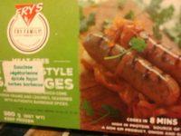 Frys Frozen Meal Braai Style Sausages - Información nutricional