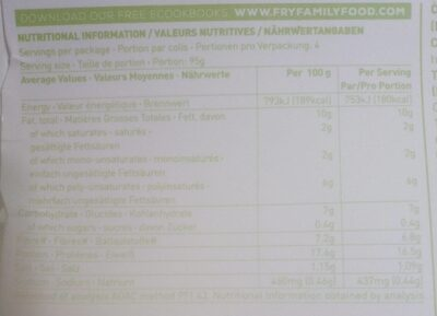 Meat Free Thick Cut Chunky Strips - Informations nutritionnelles - fr