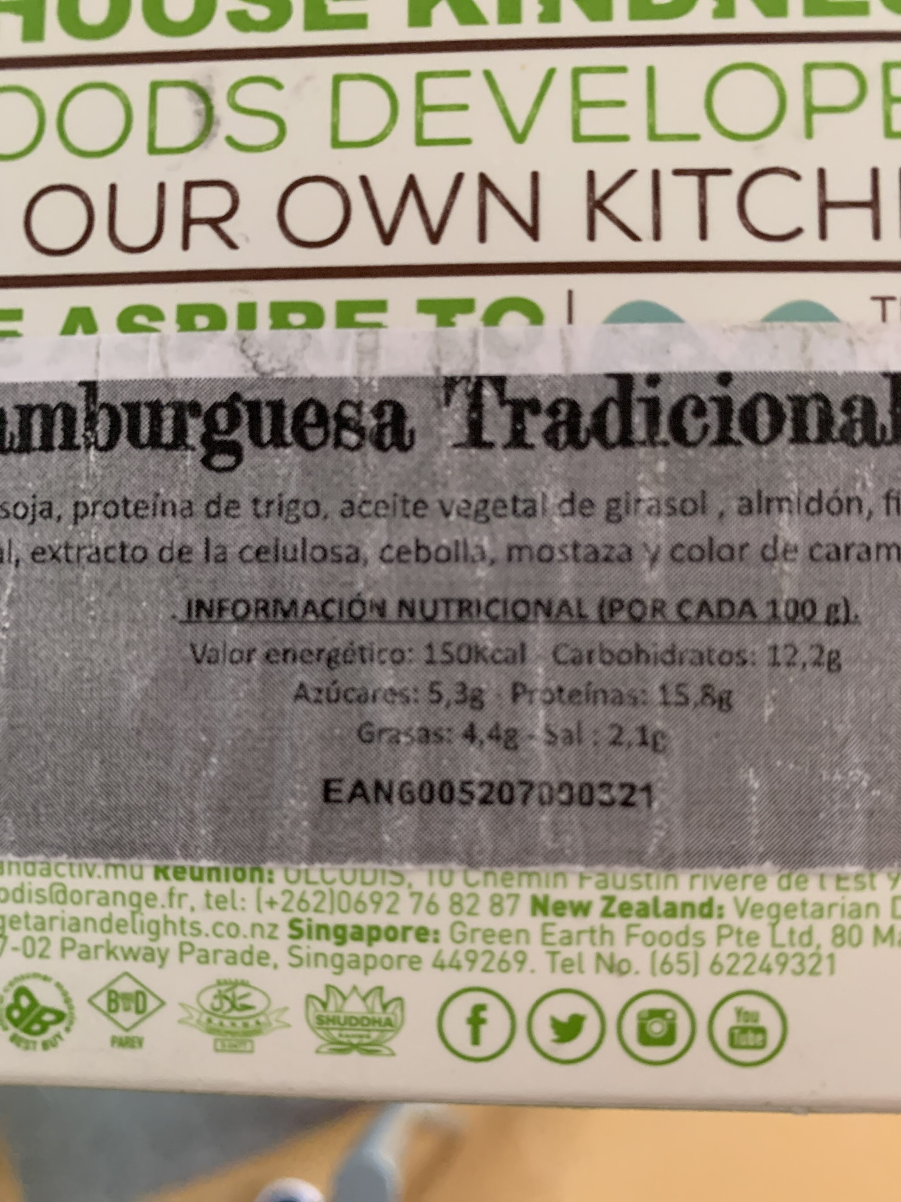 Frys Vegetarian traditional burgers - Nutrition facts - fr