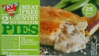 2 country mushroom pies - Product