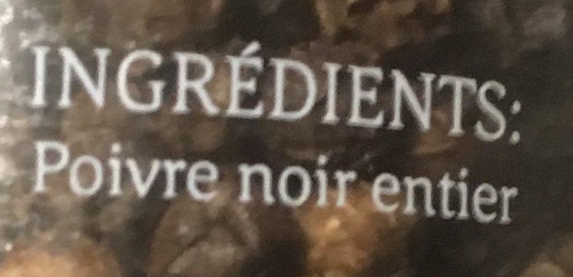 Poivre Noir - Ingrédients