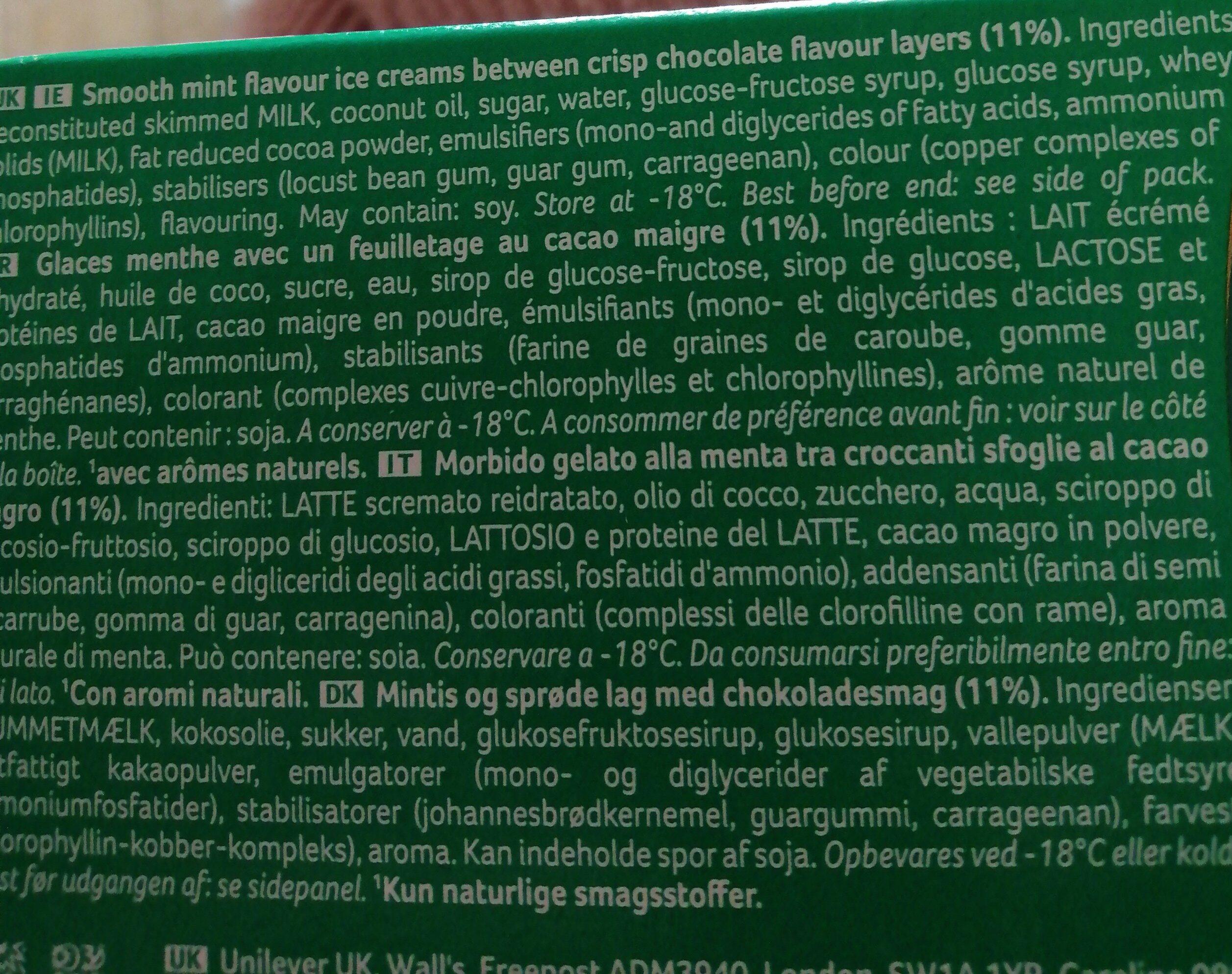 walls viennetta - Ingredients - en