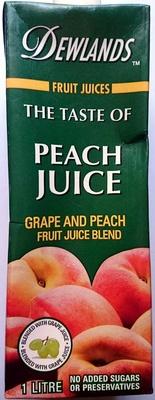 The Taste of Peach Juice - Grape and Peach Fruit Juice Blend - Product - en