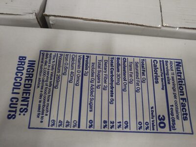 Broccoli Cuts - Fzn - Informations nutritionnelles - en