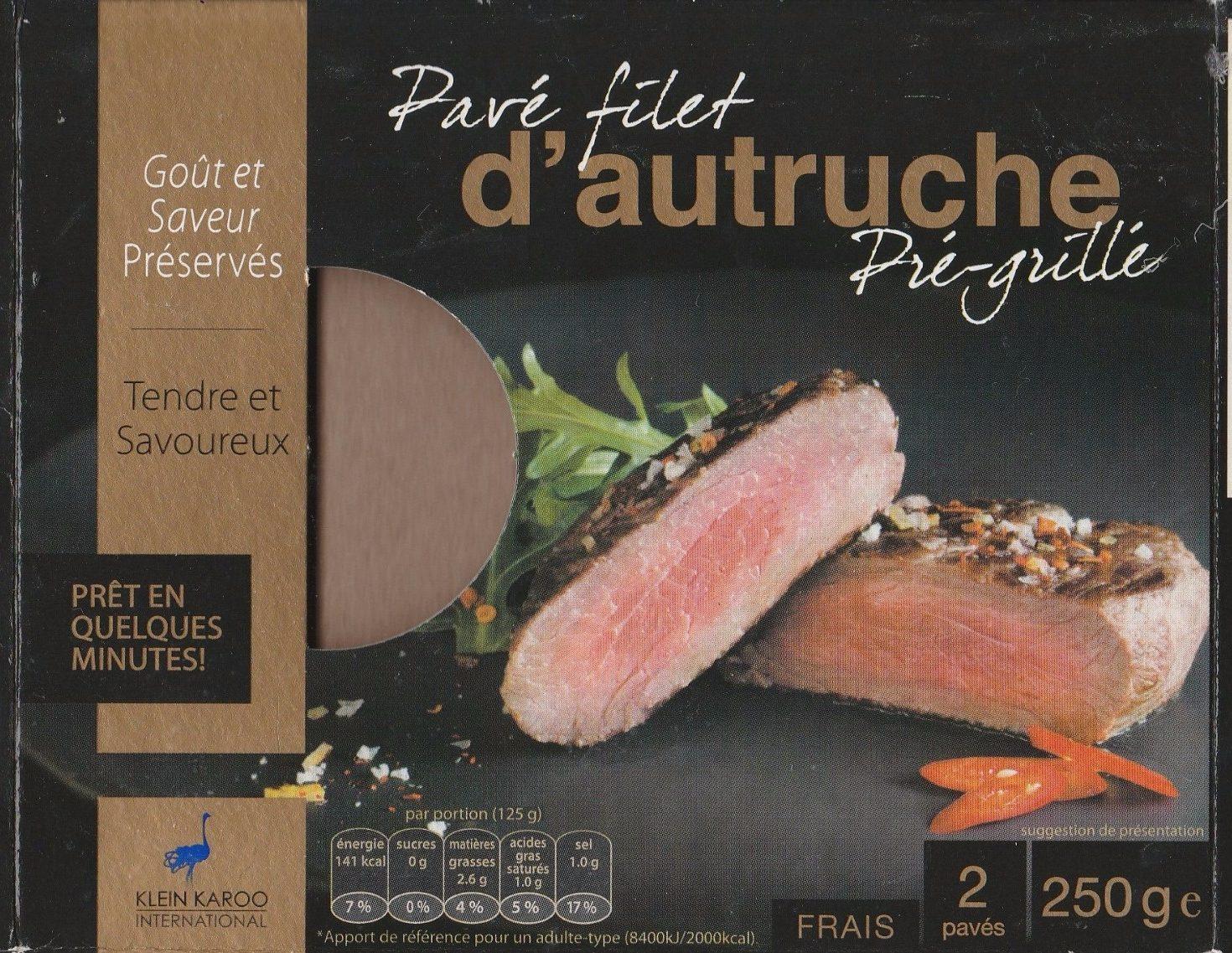 Pavé filet d'autruche pré-grillé - Produit