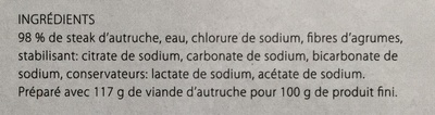 Pièce à trancher d'autruche pré-grillée - Ingrédients - fr
