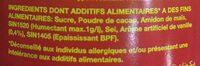 Twisco Chocolat En Poudre - المكونات - fr