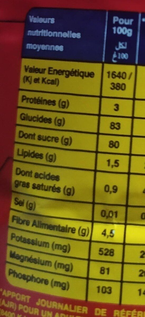 Twisco Chocolat En Poudre - Nutrition facts - fr