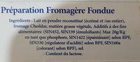 le Berbère Fromage - المكونات - fr