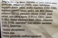 Doritos Sweet Chili Pepper - Ingredients