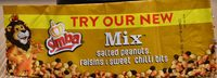 Mix Salted Peanuts, Raisins & Sweet Chilli Bits - Product - fr