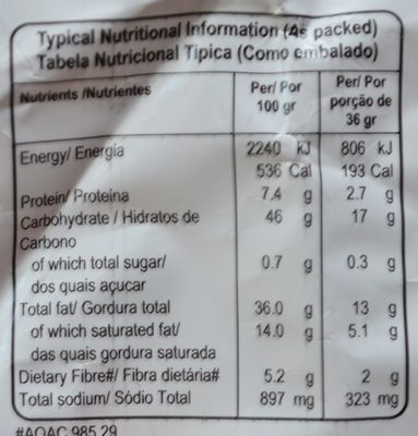 Potato Chips Salt & Vinegar Flavour - Nutrition facts - fr