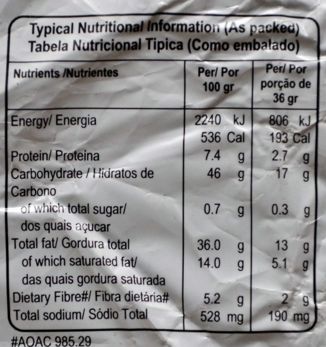 Potato Chips Salted - Nutrition facts - fr