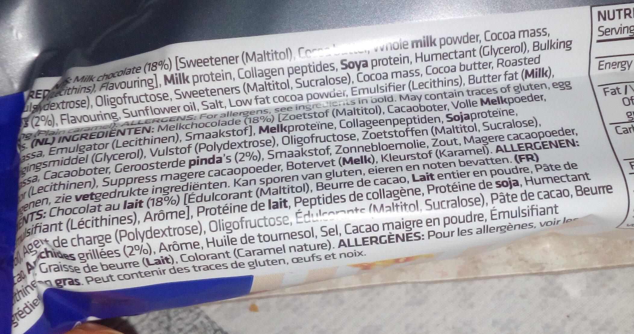 Trust crunch cacahuètes caramel salé - Inhaltsstoffe