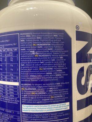 Whey premium protein - Ingredienti - es