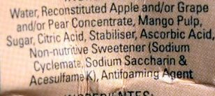 Mango Nectar Blend 40% Fruit Juice - Ingredients - en