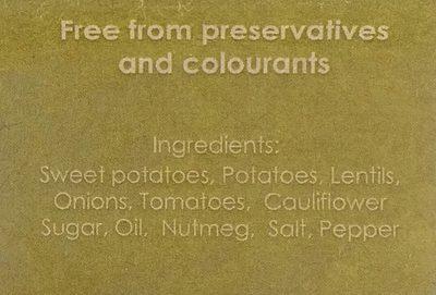 Sweet Potato Cottage Pie - Ingrédients