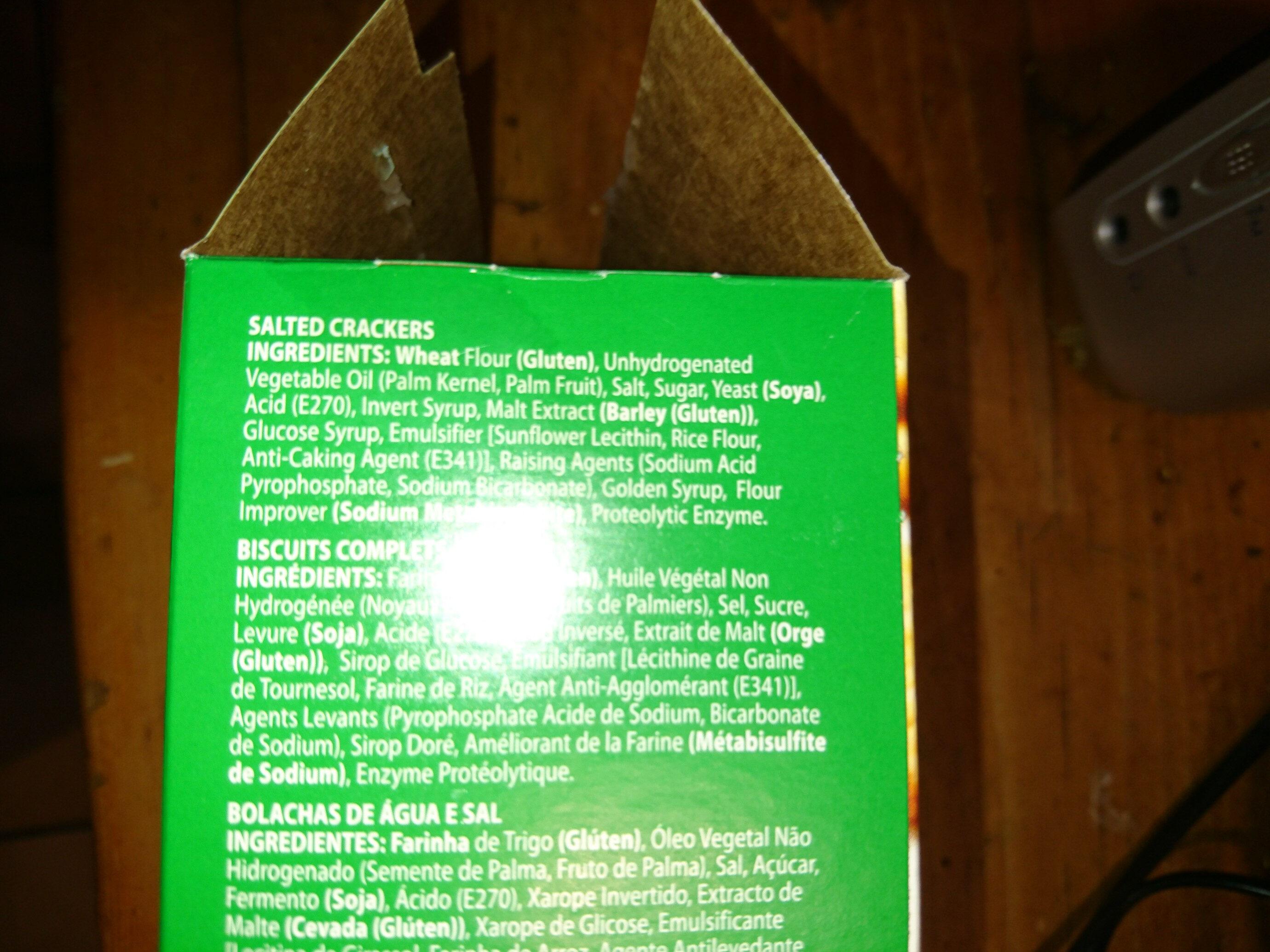 Salticrax - Ingredients