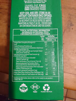 Salticrax - Nutrition facts