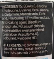 Usn bcaa amino gro - Ingrédients - en