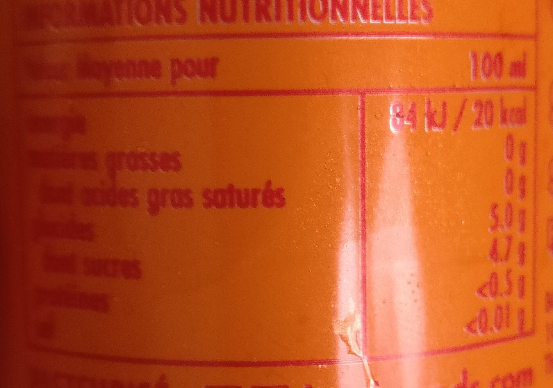 BOS ice tea Pêche - Voedingswaarden - fr