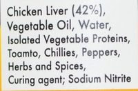 Chicken Liver Peri-Peri Paté - Ingredients - en