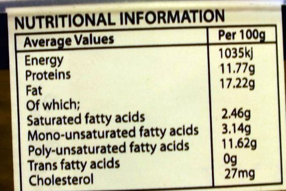 Paté de springbok - Nutrition facts - en