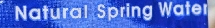 Natural Spring Stil Water - Ingredients - fr