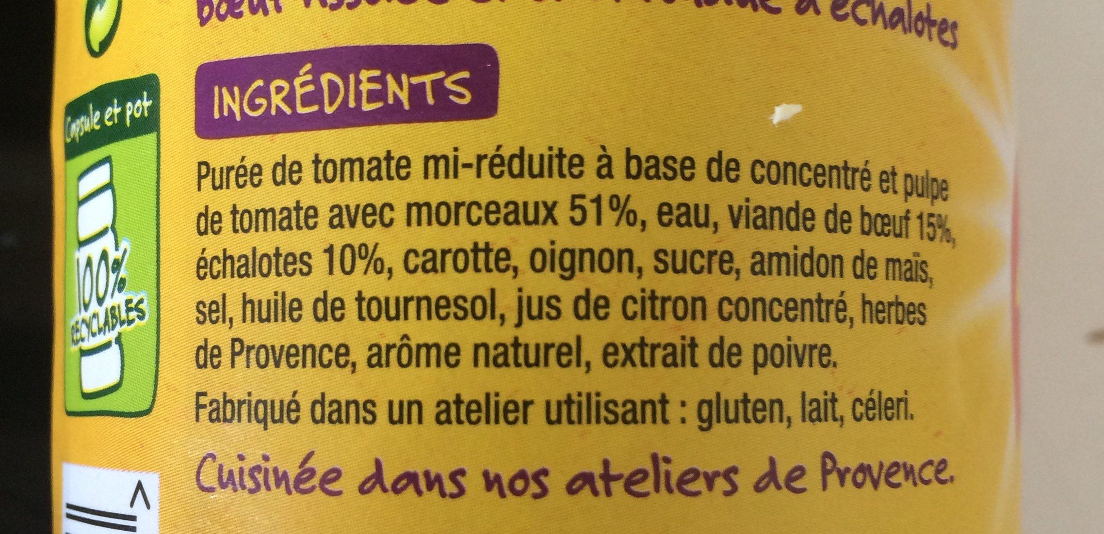 Bolognese fondue d'echalotes - Ingrédients - fr