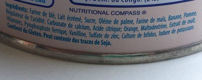 Cerelac Plein De Fruit - Ingredients - fr