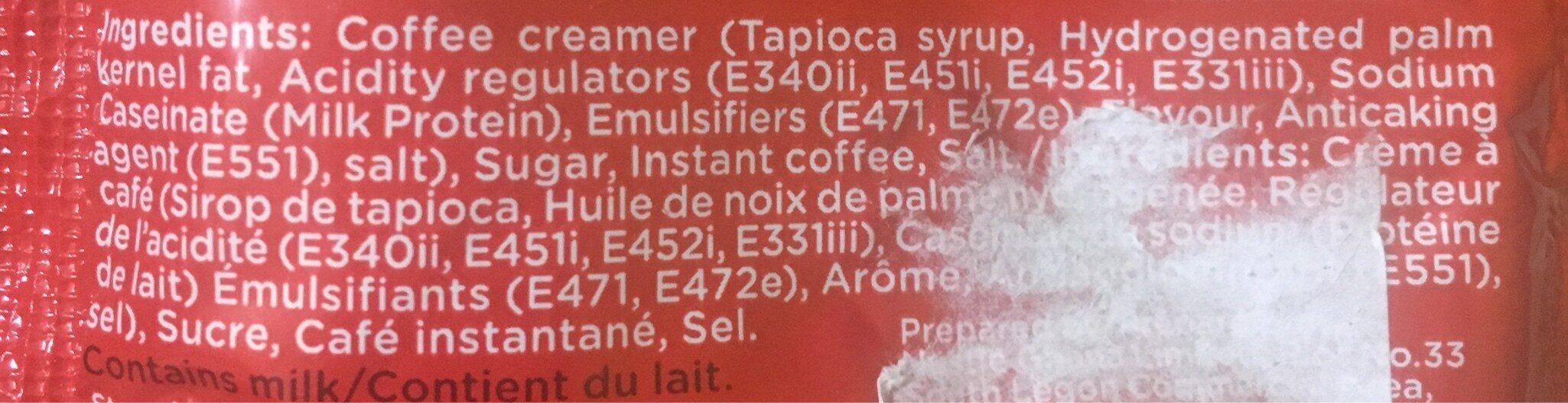 Nescafe Breakfast 3in1 32G - Ingrediënten - fr
