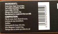 Dark Chocolate - Ingredients