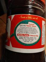 Joecarl instant pepper sauce - Informations nutritionnelles - en
