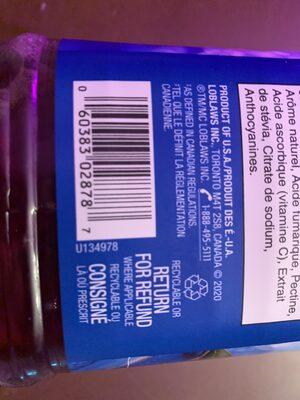 Canneberge et framboise - Instruction de recyclage et/ou informations d'emballage - fr