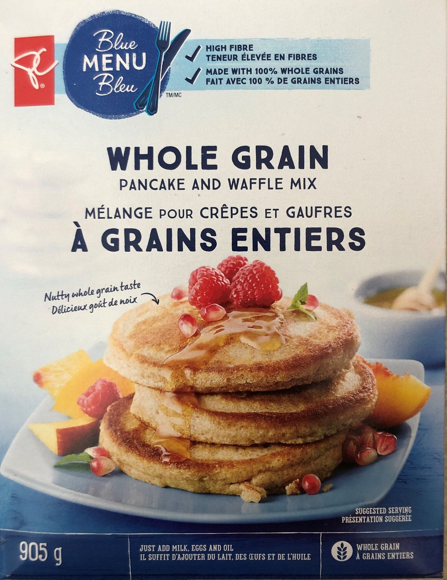 Whole Grain Pancake and Waffle Mix - Product - en
