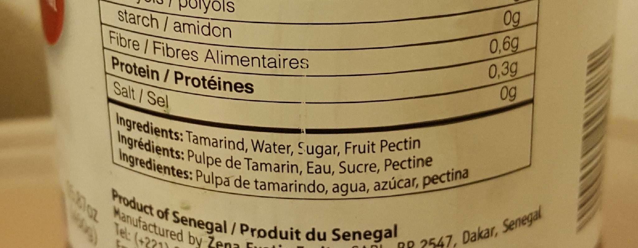 Confiture de tamarin - Ingrediënten - fr