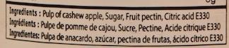 Confiture de Pomme de Cajou - Ingrediënten - fr