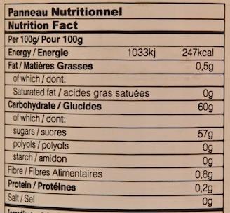 Confiture de Pomme de Cajou - Voedingswaarden - fr