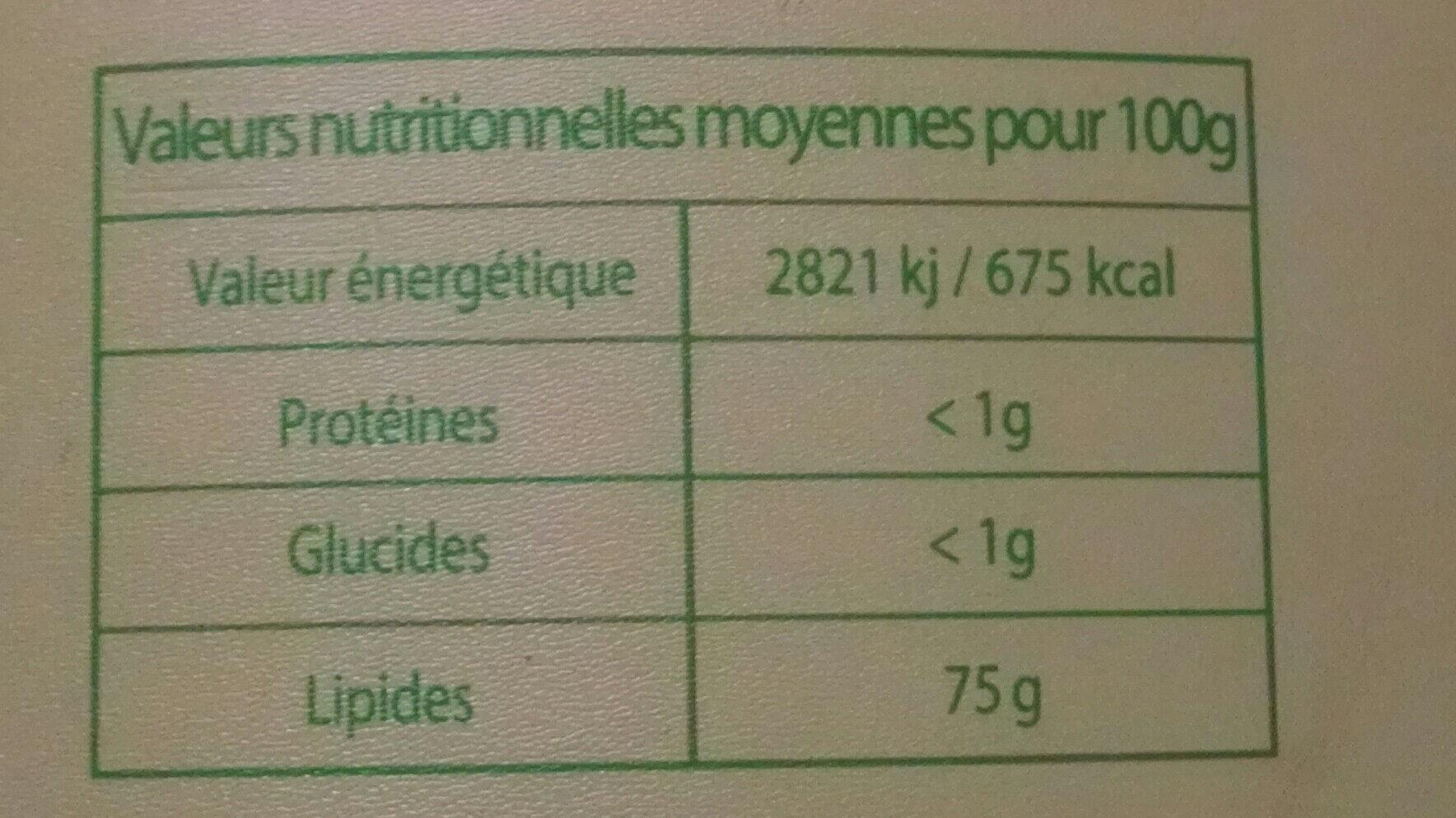 ADJA - Nutrition facts - fr