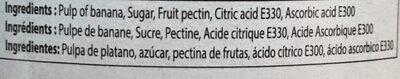 Chunky Banana Jam - Ingrédients